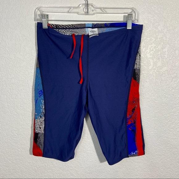 Speedo Other - Speedo Endurance Swim Shorts Blue Red 34